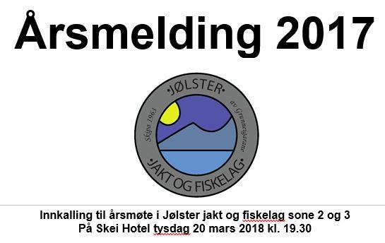 årsmøte i Jølster jakt og fiskelag sone 2 og 3